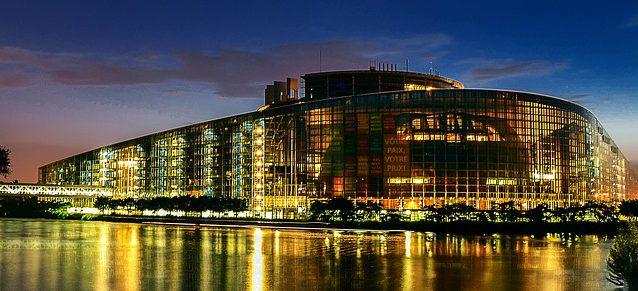 Bild på Europaparlamentet i Strasbourg.