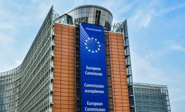 Bild på EU-kommissionens byggnad i Bryssel