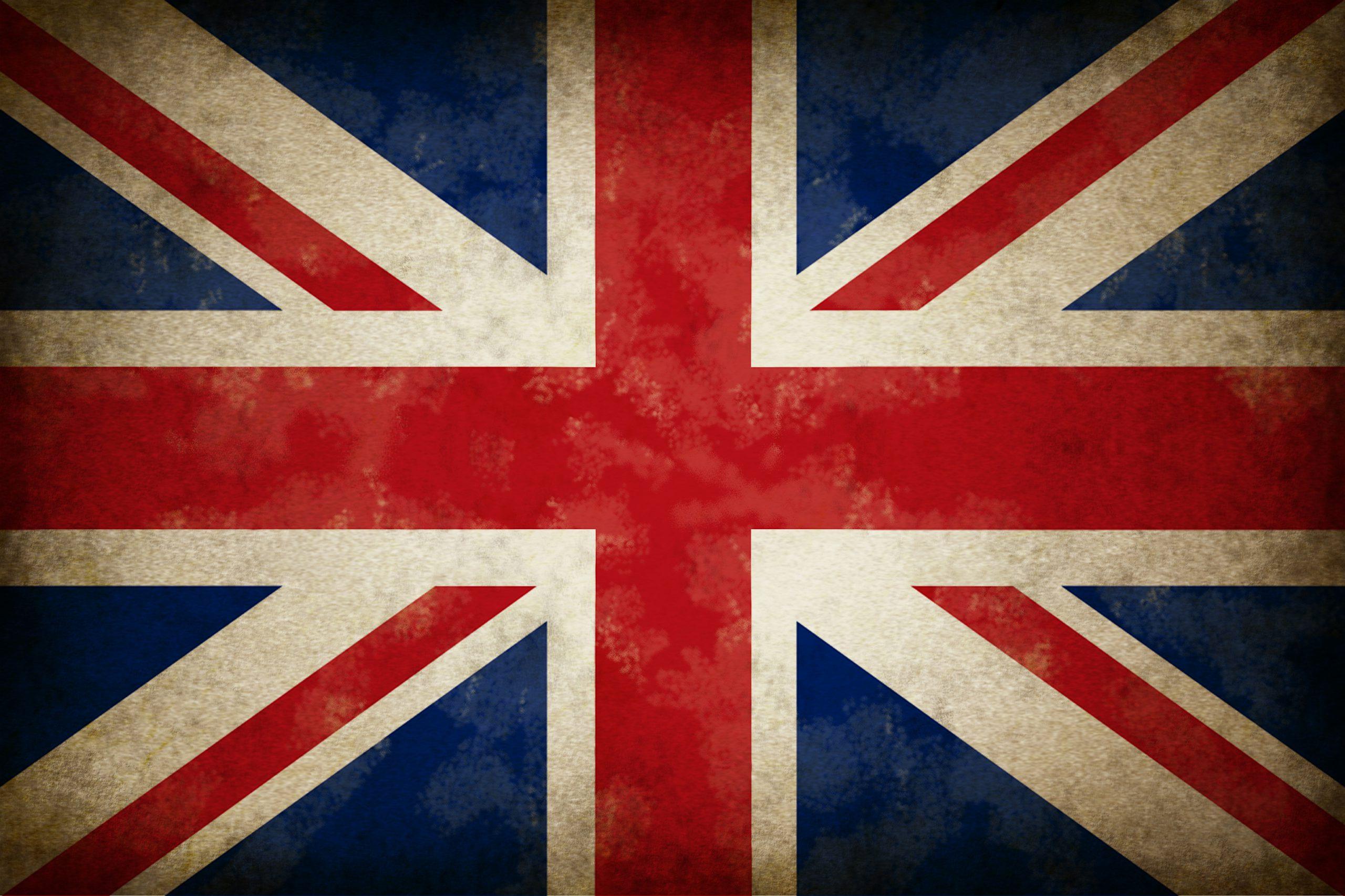 Bild på Storbritanniens flagga